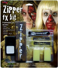 CLASSI ZIPPER FX MAKE-UP KIT HALLOWEEN FACE SCARY MAKE UP WOUND GORE ZIPPER KIT