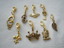 1 SUPERB ANTIQUE OR SHINY GOLD COLOURED CLIP ON CHARMS FOR CHARM BRACELETS