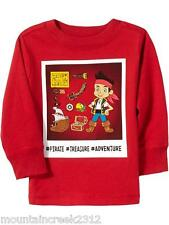 New OLD NAVY Boy's Shirt Size 2T Disney JAKE & The Neverland Pirates Tee Toddler