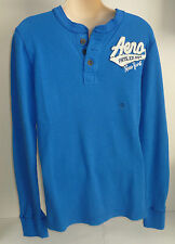 Mens AEROPOSTALE Long Sleeve Phys Ed New York Henley Shirt size S NWT #2448