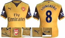 *15 / 16 - PUMA ; ARSENAL AWAY SHIRT SS + PATCHES / LJUNGBERG 8 = KIDS SIZE*
