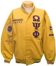 New! Mens Omega Psi Phi - Cooper Coleman Fraternity Inc. Racing Style Jacket