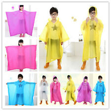 Fashion 1X Kids EVA Cape Raincoat Outdoor Children Candy Colors Raincoat Poncho