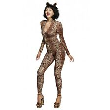 Sexy Leopard Costume Adult Cat Outfit Catsuit Halloween Fancy Dress