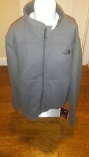 The North Face Mens Malache Fleece Full Zip Jacket Thermal Pro Asphalt Grey NWT