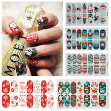 Beauty Glow Christmas Santa Nail Art Stickers Tips Full WRAPS DIY Decals Gifts