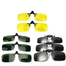Cool Day Night Vision Polarized Driving Clip-on Flip-up Lens Sunglasses Glasses