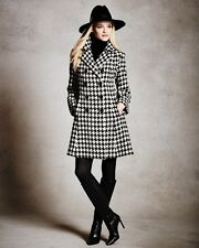 Houndstooth Double-Breasted Princess Long sleeve Coat  plus 1x-10x (SZ16-52)G153