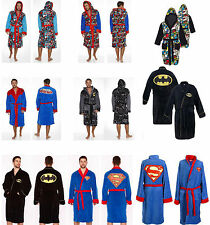 Marvel / DC Comics: Soft Fleece Bathrobe / Dressing Gown New And Official Batman