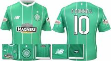 *15 / 16 - NEW BALANCE ; CELTIC AWAY SHIRT SS + PATCHES / O'DONNELL 10 = SIZE*