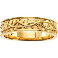 Sterling Silver,14K White or Yellow Gold Crown of Thorns Duo Band Ring