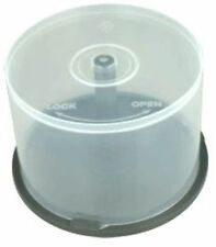 5 CD DVD Plastic Cake Tubs holds 50 Disks Spindle Storage Boxes NEW Empty Case