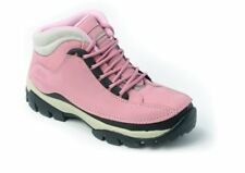 WOMENS LADIES PINK STEEL TOE CAP SAFETY WORK BOOTS 4-8