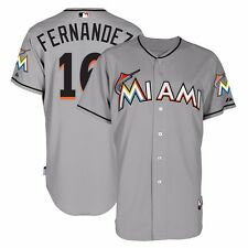 2015 Jose Fernandez Miami Marlins Authentic On-field Grey Road Cool Base Jersey