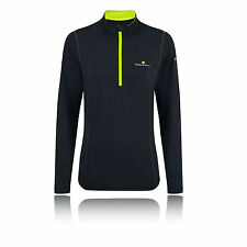 Ronhill Thermal 200 Womens Black Half Zip Long Sleeve Sports Running Top