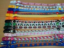 GIRLS Ribbon Dummy Holders / pacifier / plastic clips Buy 3 Get 1 Free