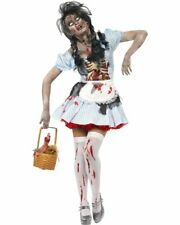 CL554 Zombie Dorothy Fairtytale Horror Bloody Halloween Fancy Dress Up Costume