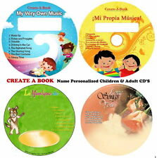 Assorited Name Personalized Children & Love Songs Music CDS -- By Create A Book