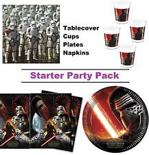 Star Wars Force Awakens 8-48 Guest Starter Party Pack - Cups Plates Napkins