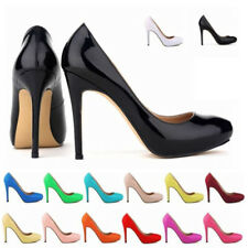 Women's High Heels Pointed Toe Platform Pumps PU Leather Stiletto Court Shoes