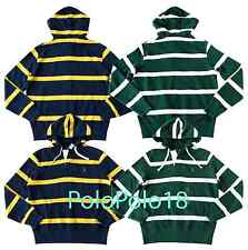 Polo Ralph Lauren Pony Fleece Hoodie Jacket Sweatshirt Stripe S M L