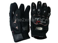 New Motorcycle Pro-Biker Motocross Racing Protection Gloves Black Size L XL XXL