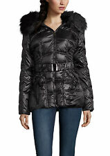 Laundry by Shelli Segal Women's Belt Quilt Puffer Down Coat Jacket in 2 Colors