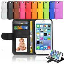Flat Leather Flip Stand Wallet Case Card Photo Cover For iPhone 4S 5 5S 6S PLUS
