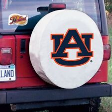 Auburn Tire Cover with Tigers Logo on White Vinyl