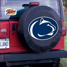 Penn State Tire Cover with Nittany Lions Logo on Black Vinyl