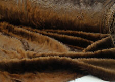 Craft-Toy-Bear Making-DARK BROWN FAKE FUR MATERIAL-Fabric-Metres-SEWING BEE