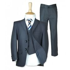 Boys Formal Wear 3 Piece Carrera Dark Grey Suit Wedding Communion Boys Suits