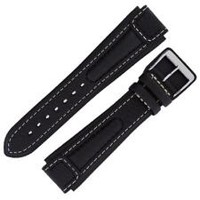 Di Modell CHRONISSIMO Waterproof Pilot Leather Watch Strap and Buckle in BLACK