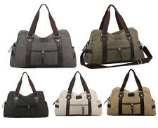 Mens Canvas Shoulder Bags Duffle Casual Overnight Bags Travel Handbags Totes ##