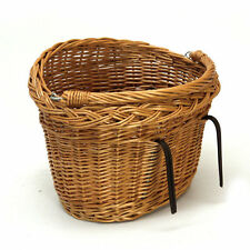 PRESTIGE WICKER BICYCLE BASKET WITH HANDLE (Standard/Large) vintage design