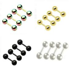 4pcs 16g 5mm Ball Eyebrow Lip Tongue Tragus Rings Barbell Bar Stud Body Piercing