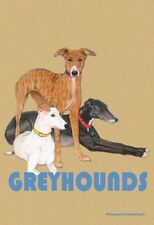 Greyhound: House Flags and Garden Flags. In two sizes