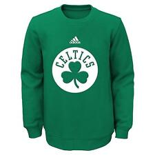 "Boston Celtics Youth NBA Adidas ""Primary"" Pullover Crew Fleece Sweatshirt"
