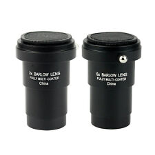 "New Metal 1.25"" 3X/5X Achromatic Barlow Lens T-adapter for Telescope Eyepiece"