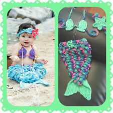 Baby Mermaid Outfit, crochet, halloween, costume, pageant, prop, shower gift,
