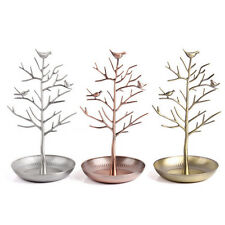 Metal Hanging Necklace Rack Earring Holder Jewelry Tree Display Organizer Stand