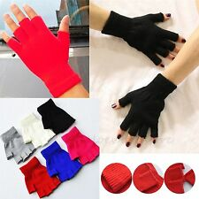 Hot Mens&Womens Warm Soft Winter Fingerless Half Fingers Knitted Mittens Gloves