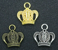 Wholesale Fashion Beautiful Tibet Silver Imperial crown Charms Pendants 16x17mm