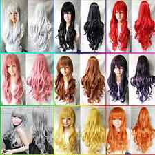 "1 Pcs 32""/80cm Heat Resistant Bang Long Wavy Curly Cosplay Anime Wig Party Hair"