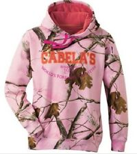 NWT Large Med Cabelas Women's Pink Camo Hoodie Sweatshirt Realtree Hunting Sexy