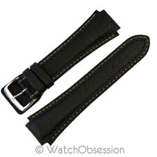 Di-Modell PILOT Waterproof Leather Watch Strap in BLACK