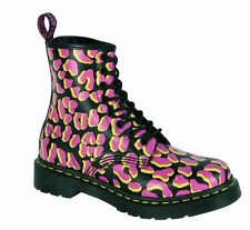 Dr Martens 8-Hole 1460 Black Pink Yellow 13661010 Original Classic Doc