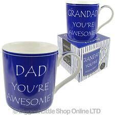NEW .You're Awesome DAD or GRANDAD MUG CUP by Leonardo Gift Boxed Fathers Day
