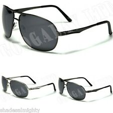 New Mens Polarized Sturgeon Fishing UV400 Aviator Design Black Sunglasses 9317