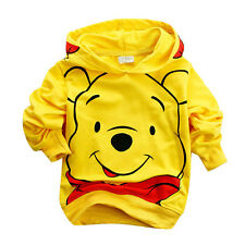 Baby Boys Girls Tracksuit Hoodie Winnie Jacket Suits Children Kids Clothing 2-8Y